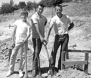 Ken Bice breaking ground for his Sebastopol goat dairy.