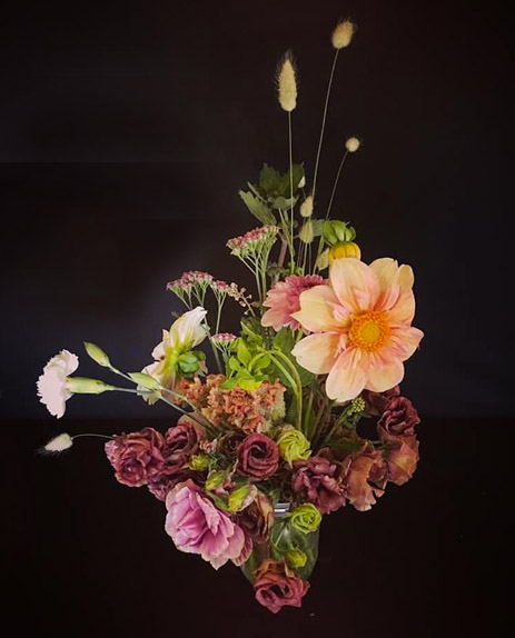 Custom flower bouquet with flowers from the Flower Field
